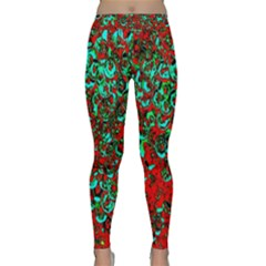 Red Turquoise Abstract Background Classic Yoga Leggings