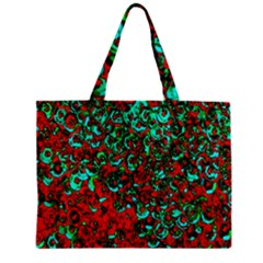 Red Turquoise Abstract Background Zipper Mini Tote Bag