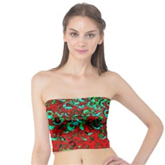 Red Turquoise Abstract Background Tube Top