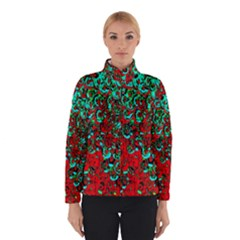 Red Turquoise Abstract Background Winterwear