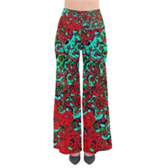 Red Turquoise Abstract Background Pants