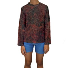 Olive Seamless Abstract Background Kids  Long Sleeve Swimwear