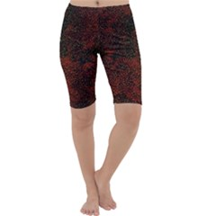 Olive Seamless Abstract Background Cropped Leggings