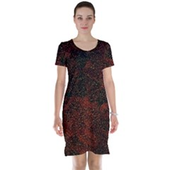 Olive Seamless Abstract Background Short Sleeve Nightdress