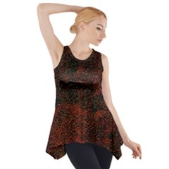 Olive Seamless Abstract Background Side Drop Tank Tunic