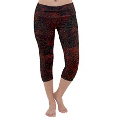 Olive Seamless Abstract Background Capri Yoga Leggings