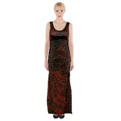 Olive Seamless Abstract Background Maxi Thigh Split Dress