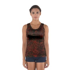 Olive Seamless Abstract Background Women s Sport Tank Top