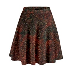 Olive Seamless Abstract Background High Waist Skirt