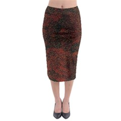Olive Seamless Abstract Background Midi Pencil Skirt