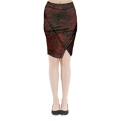 Olive Seamless Abstract Background Midi Wrap Pencil Skirt