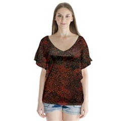 Olive Seamless Abstract Background Flutter Sleeve Top