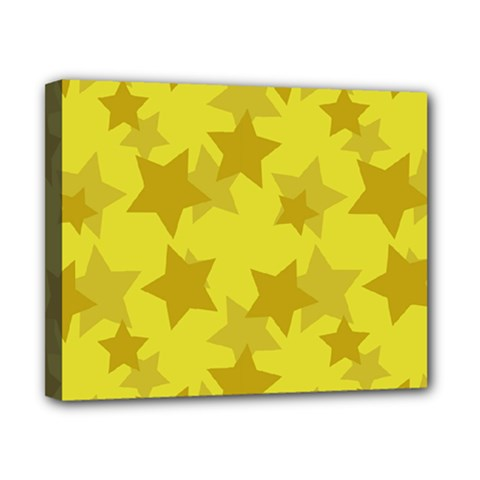 Yellow Star Canvas 10  x 8