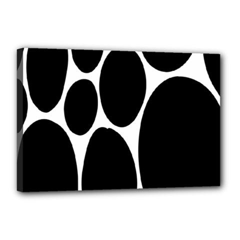 Dalmatian Black Spot Stone Canvas 18  x 12
