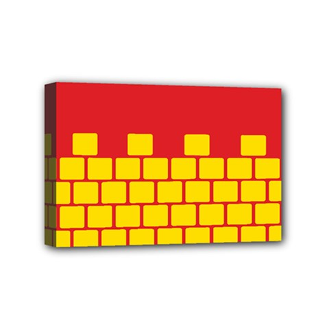 Firewall Bridge Signal Yellow Red Mini Canvas 6  x 4