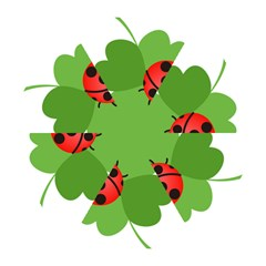 Insect Flower Floral Animals Green Red Mini Folding Umbrellas