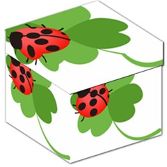 Insect Flower Floral Animals Green Red Storage Stool 12