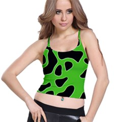 Abstract Shapes A Completely Seamless Tile Able Background Spaghetti Strap Bra Top