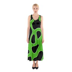 Abstract Shapes A Completely Seamless Tile Able Background Sleeveless Maxi Dress