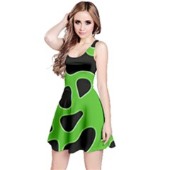 Abstract Shapes A Completely Seamless Tile Able Background Reversible Sleeveless Dress