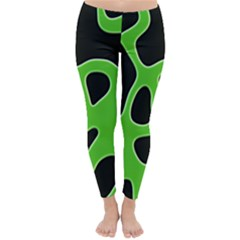 Abstract Shapes A Completely Seamless Tile Able Background Classic Winter Leggings