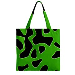 Abstract Shapes A Completely Seamless Tile Able Background Zipper Grocery Tote Bag