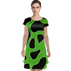 Abstract Shapes A Completely Seamless Tile Able Background Cap Sleeve Nightdress