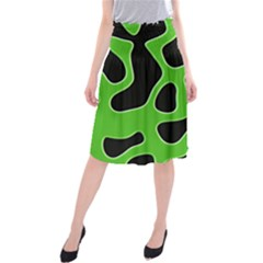 Abstract Shapes A Completely Seamless Tile Able Background Midi Beach Skirt