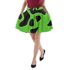 Abstract Shapes A Completely Seamless Tile Able Background A-Line Pocket Skirt