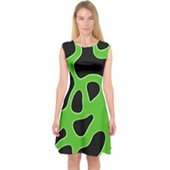 Abstract Shapes A Completely Seamless Tile Able Background Capsleeve Midi Dress