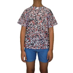 Hurley Mix Electric Electric Red Blend Kids  Short Sleeve Swimwear