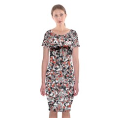 Hurley Mix Electric Electric Red Blend Classic Short Sleeve Midi Dress