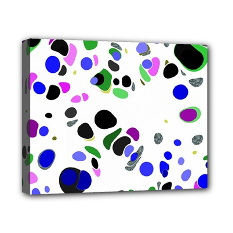 Colorful Random Blobs Background Canvas 10  x 8