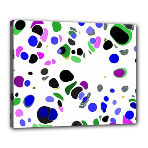 Colorful Random Blobs Background Canvas 20  X 16