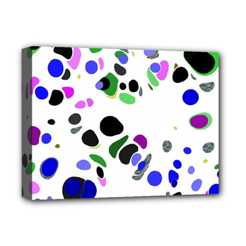 Colorful Random Blobs Background Deluxe Canvas 16  x 12