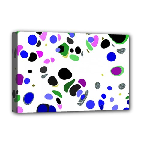 Colorful Random Blobs Background Deluxe Canvas 18  x 12