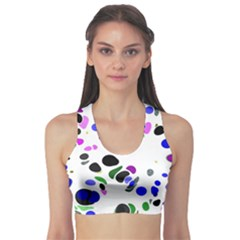 Colorful Random Blobs Background Sports Bra