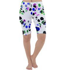 Colorful Random Blobs Background Cropped Leggings