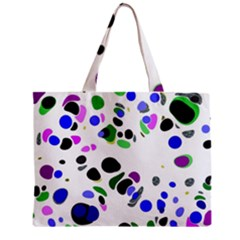 Colorful Random Blobs Background Zipper Mini Tote Bag