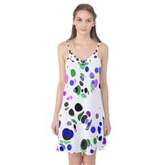 Colorful Random Blobs Background Camis Nightgown