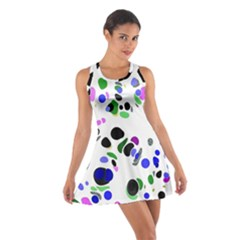 Colorful Random Blobs Background Cotton Racerback Dress