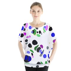 Colorful Random Blobs Background Blouse