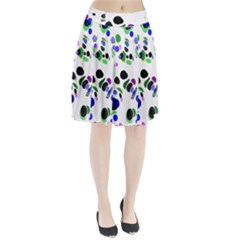 Colorful Random Blobs Background Pleated Skirt