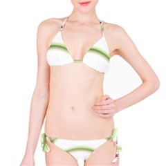 Abstract Background Bikini Set