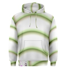Abstract Background Men s Pullover Hoodie