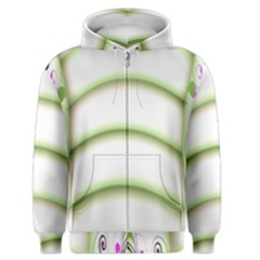 Abstract Background Men s Zipper Hoodie