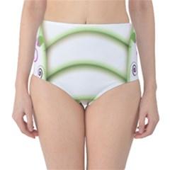 Abstract Background High-Waist Bikini Bottoms