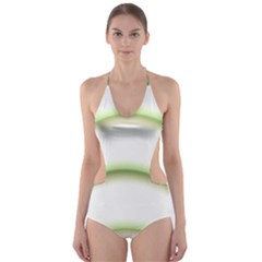 Abstract Background Cut Out One Piece Swimsuit