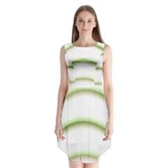 Abstract Background Sleeveless Chiffon Dress
