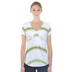 Abstract Background Short Sleeve Front Detail Top